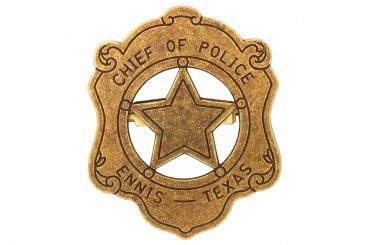 Polizeichef Abzeichen