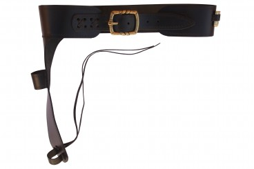 Leather cartridge belt for Mare's Leg rifle