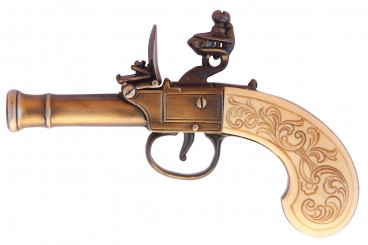 Flintlock pistol, England 18th. C.