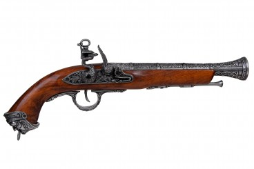 Flintlock pirate pistol, Italy 18th. C.