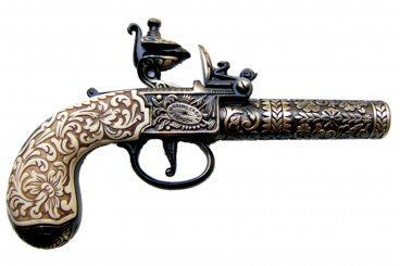 Flintlock pocket pistol, London 1795