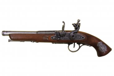 Flintlock pistol (left-handed), France 18th. C.