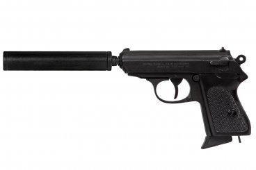 Semi-automatic pistol with silencer, Germany 1931