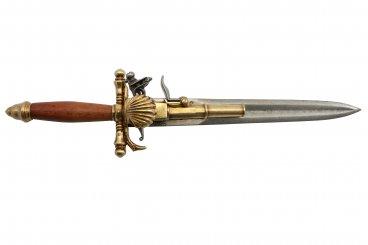 Knife-pistol, France 18th C.