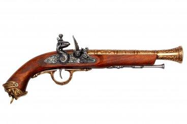 Flintlock pirate pistol, Italy 18th. C.