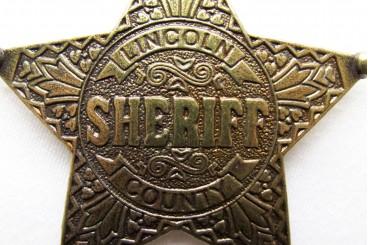 Placa de Sheriff Lincoln County