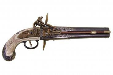 Pistola de 2 cañones giratorios, Reino Unido, 1750