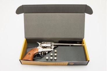 Revólver Cal.45 de caballería, con 6 balas, USA 1873