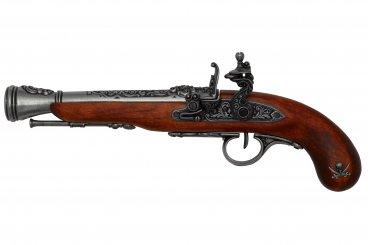Pistola de chispa pirata, S.XVIII (zurda)
