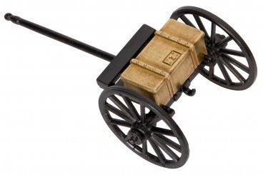 Chariot de canon guerre civile, États-Unis 1857