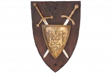 Blason et 2 épées panoplie