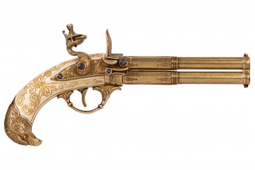 Pistola con 2 pistole rotanti, Francia S. XVIII
