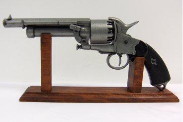 replica Revolver Guerra Civile LeMat USA 1855 reenactor in metallo 37 cm