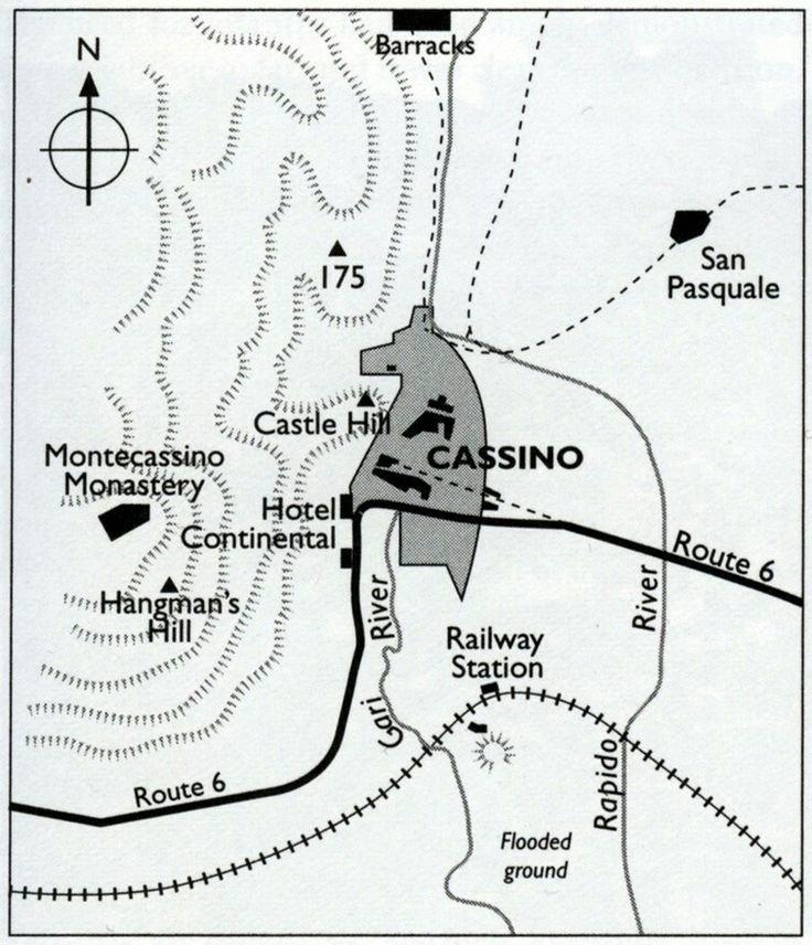 Mapa Montessino 1944